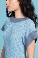 Adam's Rib Knit Open Square Back Sweater