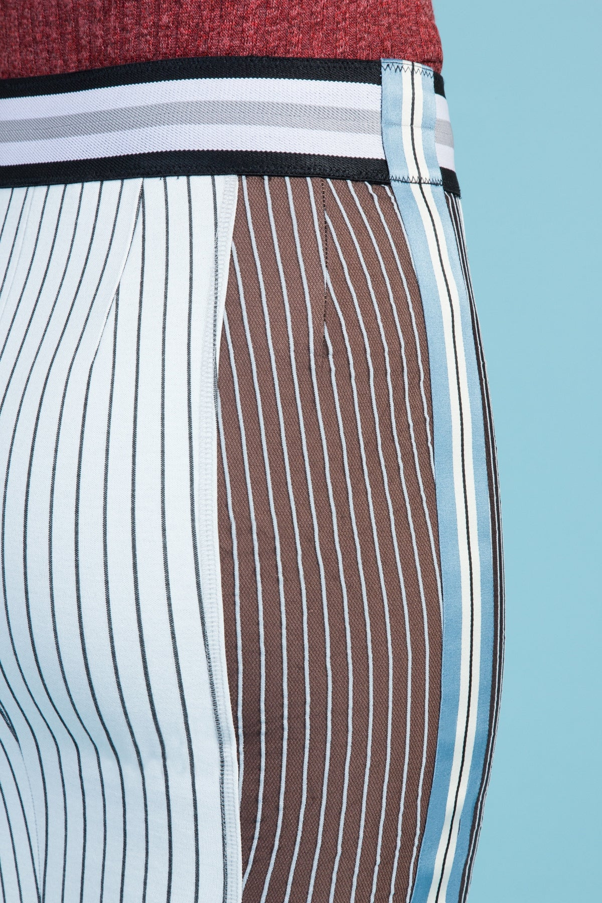 Pinstripe Ponte Pencil Skirt (1317818204235)