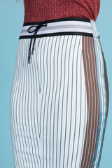 Pinstripe Ponte Pencil Skirt