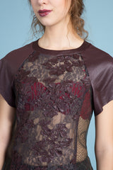 Vegan Leather & Lace Tee