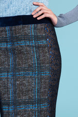 Windowpane Plaid Pencil Skirt
