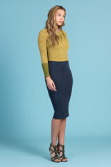 Vegan Buckskin Pencil Skirt (1320044036171)