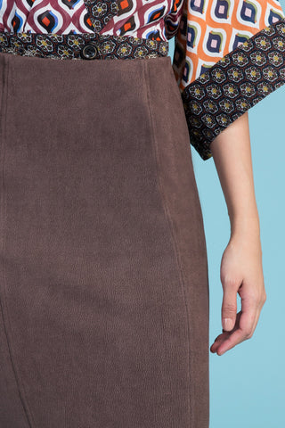 Vegan Buckskin Pencil Skirt