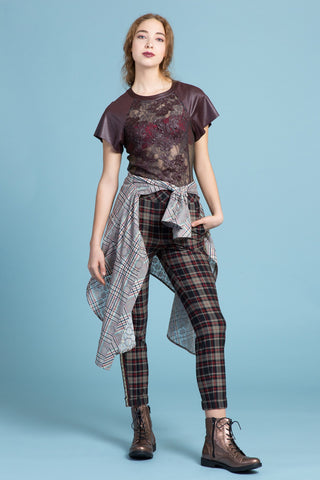 Metal Flaked Plaid Shirt Belt (1323895029835)