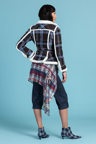 Plaid on The Lamb Shearling Jacket (1336317182027)
