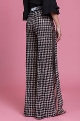 Houndstooth Wide Leg Pant