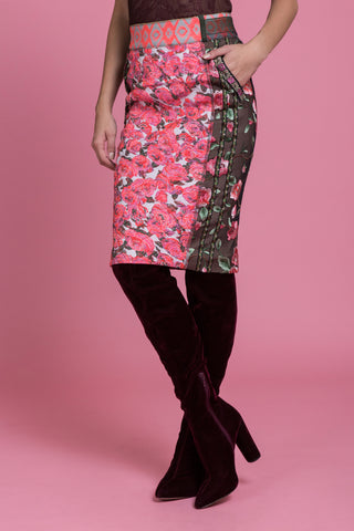 Cosmopolitan Brocade Pencil Skirt (1477440176203)