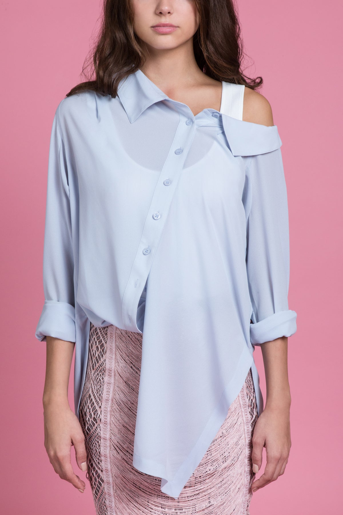 Off The Shoulder Georgette Blouse