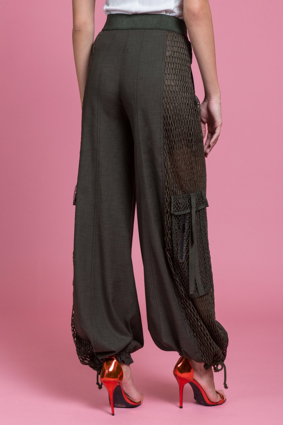 Tailored Utility Wide Leg Cargo Pant