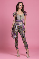 Garden Party Jacquard Tailored Stretch Pant