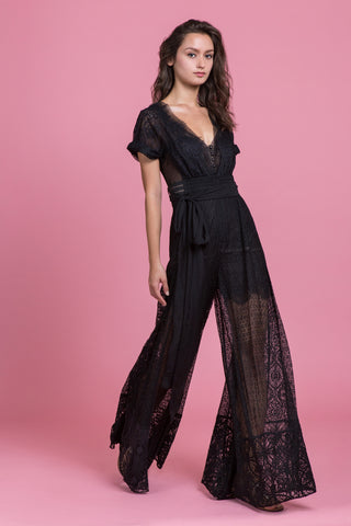 Mascara Lace Jumpsuit
