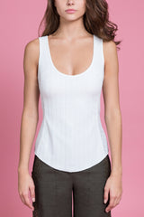 Knit Scoop Neck Tank Top (1483813748811)