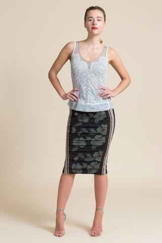 Dark Victory Military Hobble Skirt
