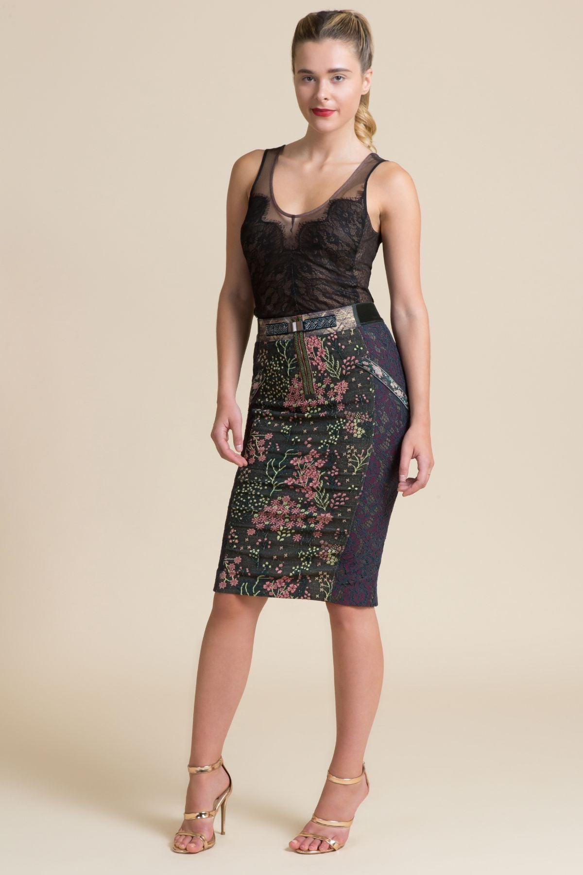 Versailles Pencil Skirt (3521443233867)