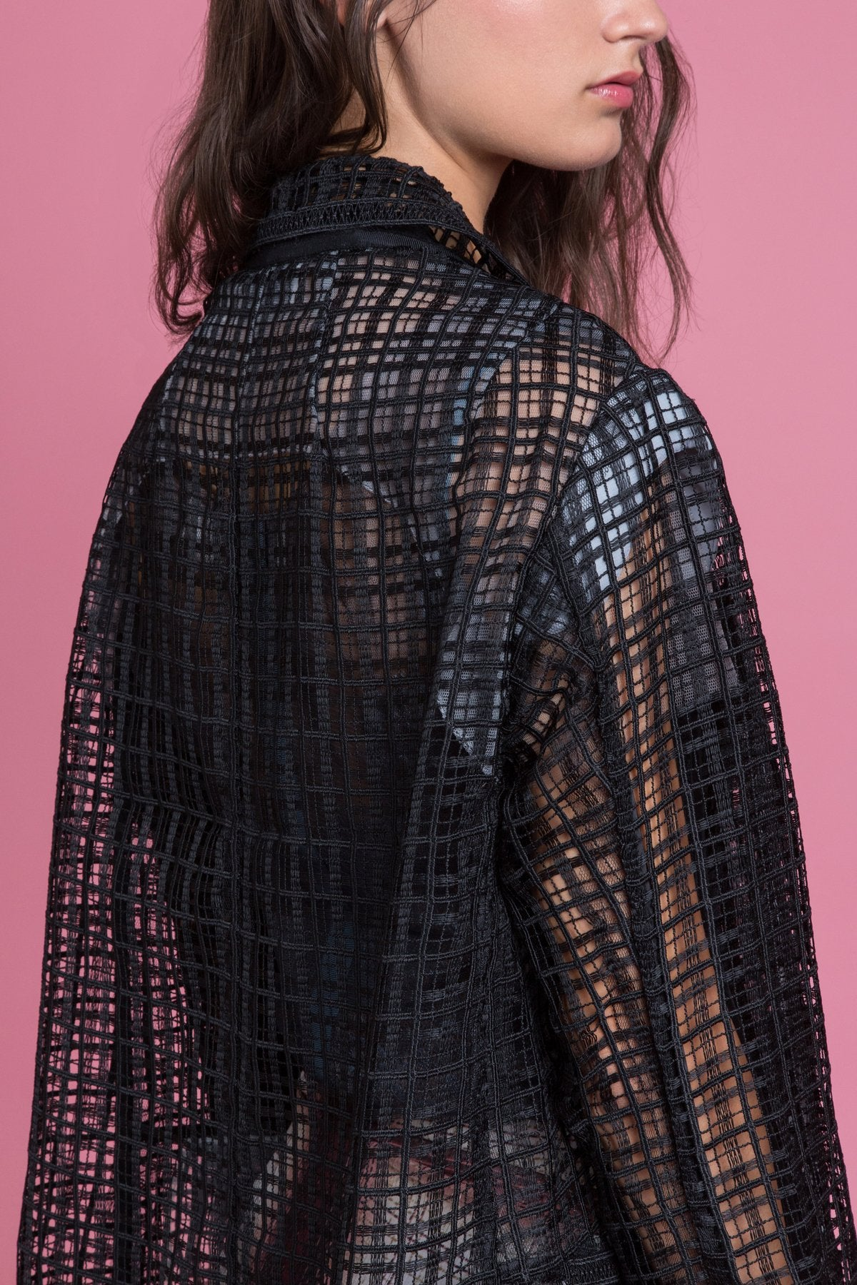 Textured Lace Boyfriend Jacket - Final Sale