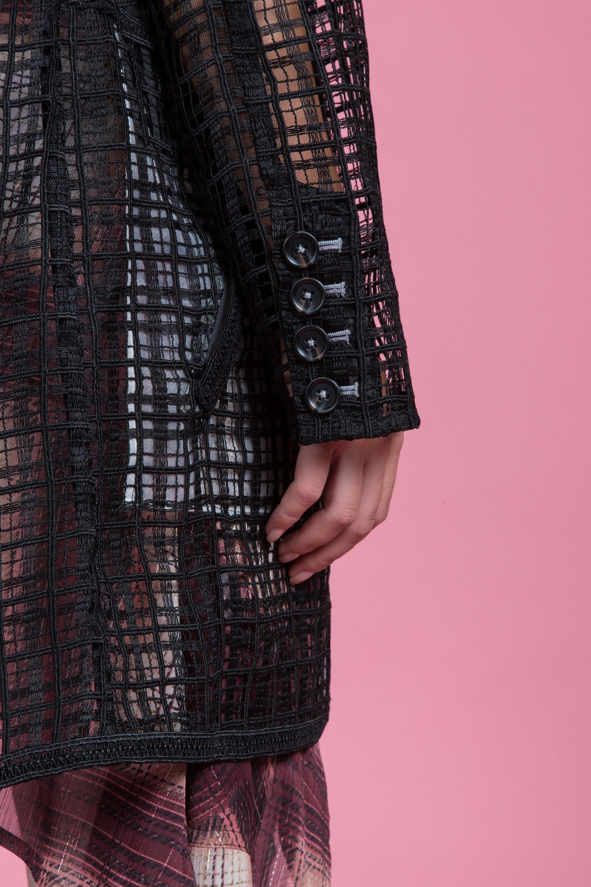 Textured Lace Boyfriend Jacket (1484953911371)