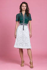Magrittees Green Fit & Flare Dress (1484157419595)