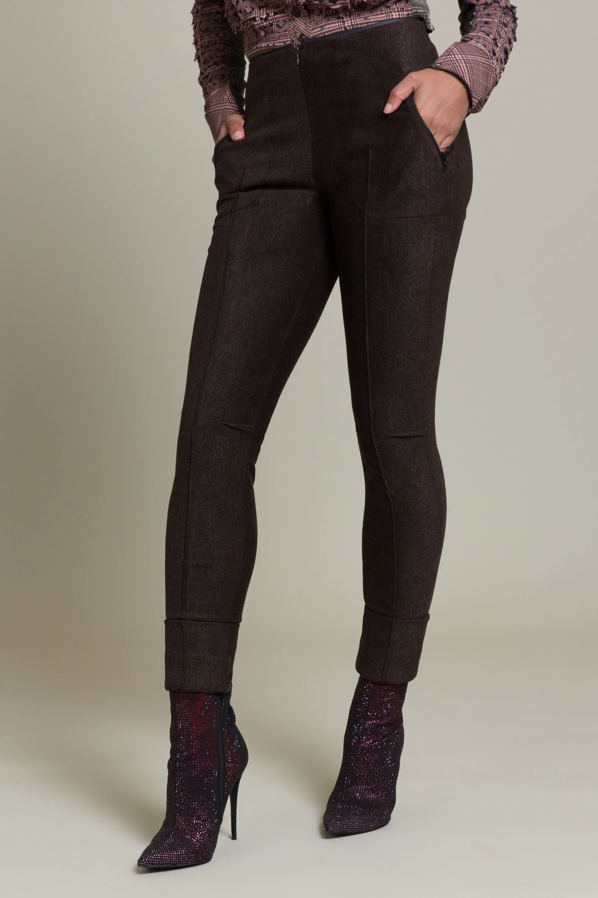 Flannel Ponte Stretch Pant
