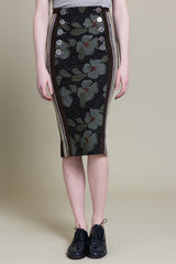 Dark Victory Military Hobble Skirt (3519358533707)