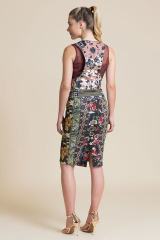 Chambord Floral Pencil Skirt