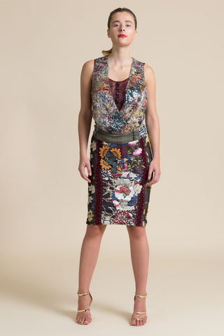 Chambord Floral Pencil Skirt (3521241186379)