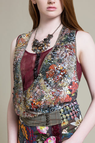Pierrefonds Sequin Sleeveless Vest
