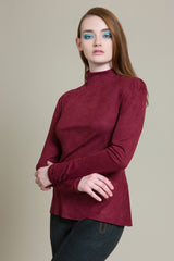 Long Sleeve Vegan Suede Top (3521185251403)