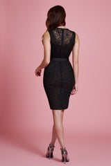 Floral Applique Lace Sheath in Petite - Final Sale