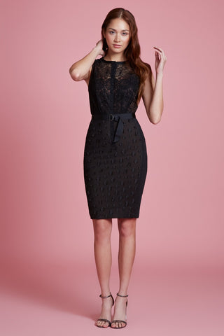 Floral Applique Lace Sheath