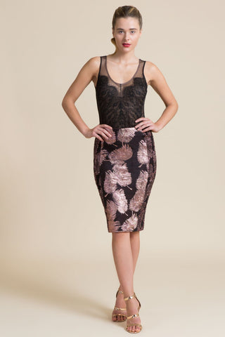 Burmese Tourmaline Samba Stretch Pencil Skirt (3945248915531)