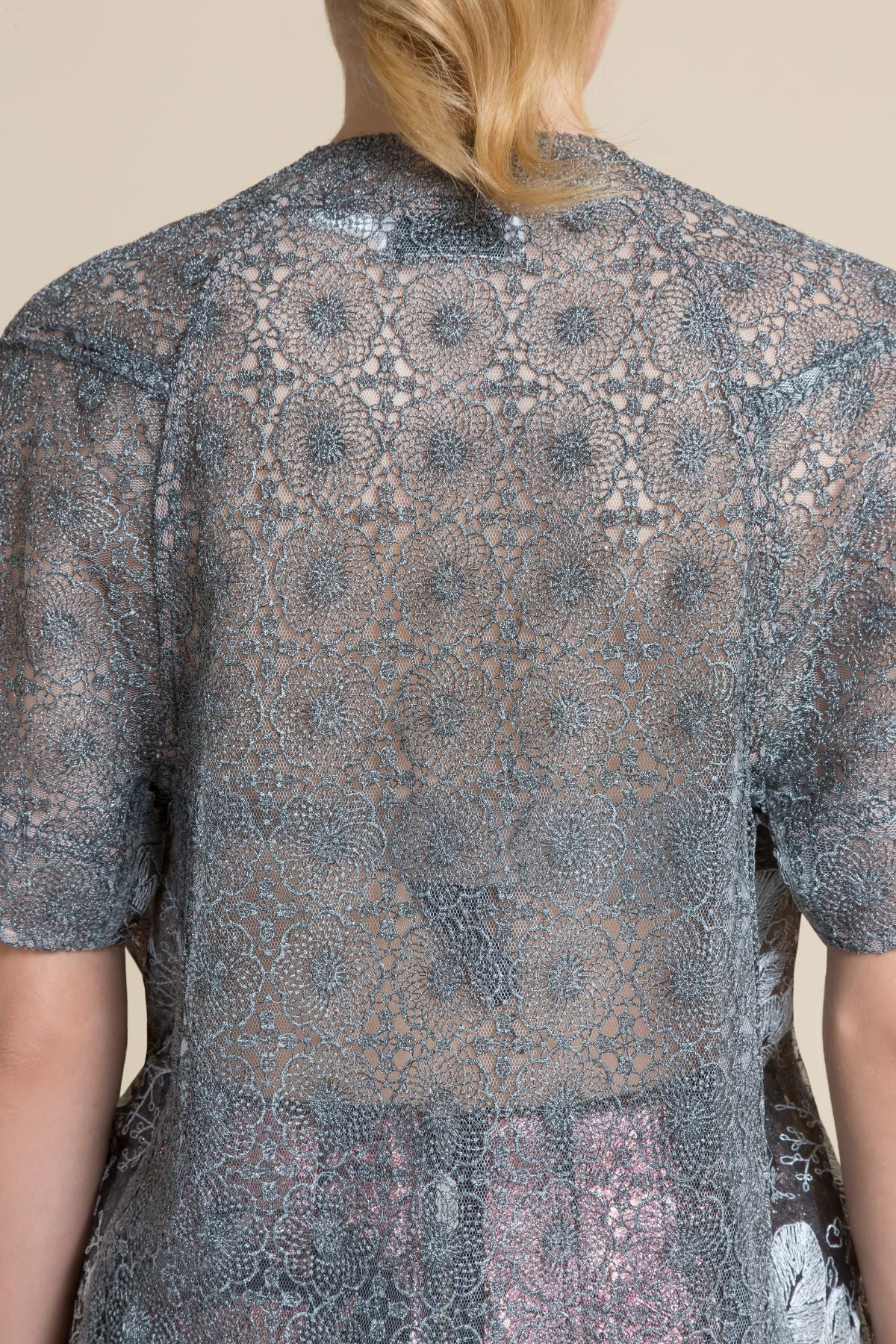 Pewter Lindy Hop Lace Tee