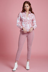 Berry Embroidered Tailored Shirt - Final Sale