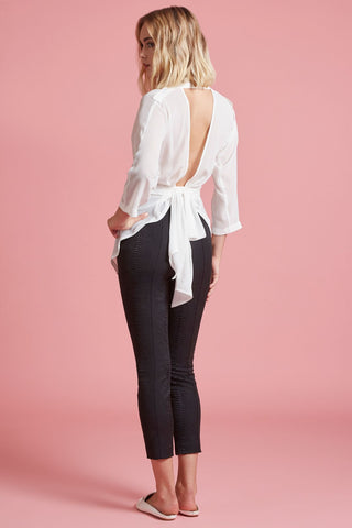 Backless Bow Blouse (4185217073227)