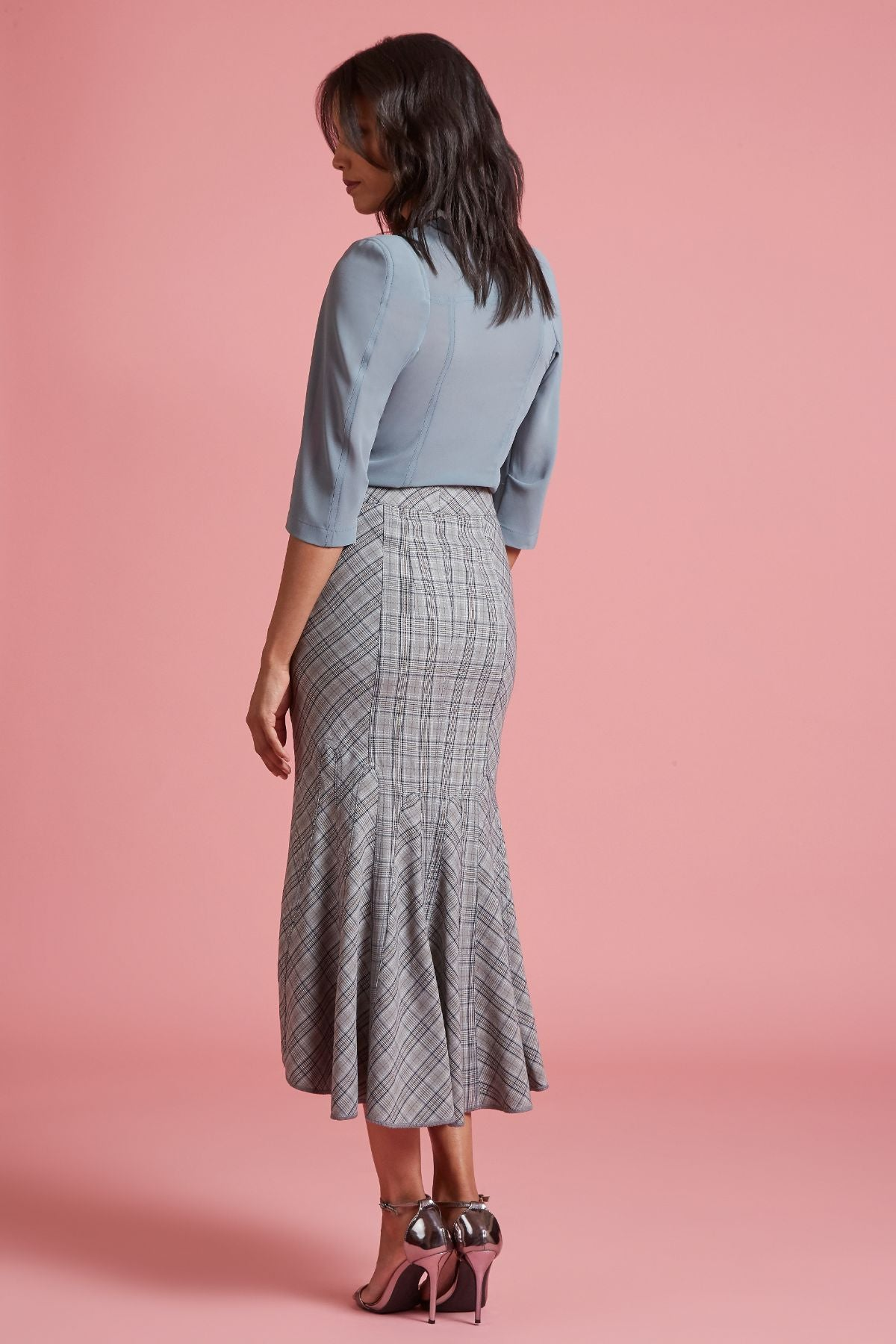 Aloe Plaid Mermaid Skirt (4185438453835)