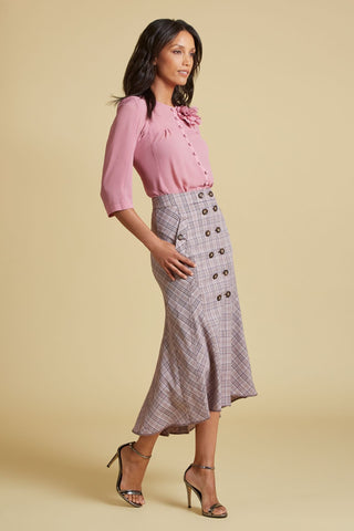 Plaid Mermaid Skirt (4185438453835)