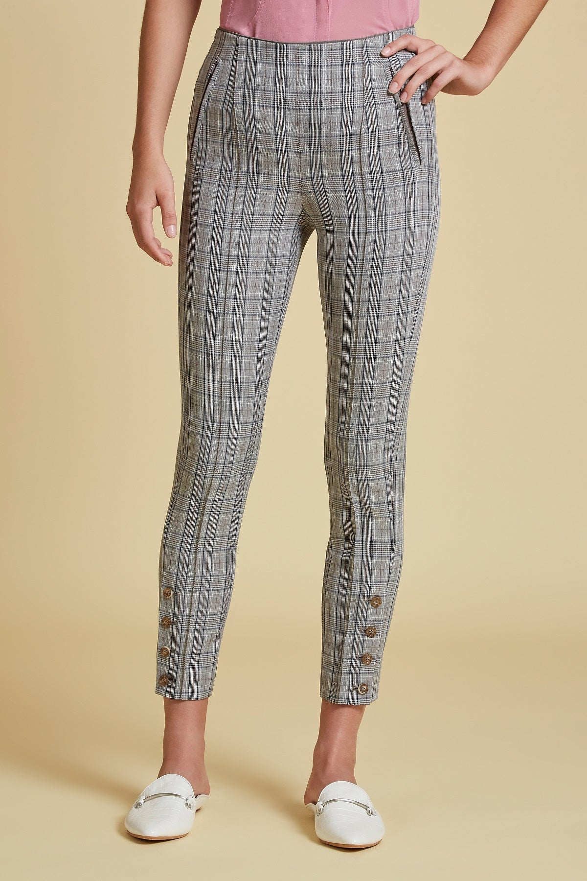 Aloe Plaid Tailored Stretch Pant (4185463062603)