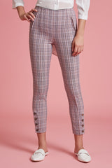 Glen Plaid Tailored Stretch Pant