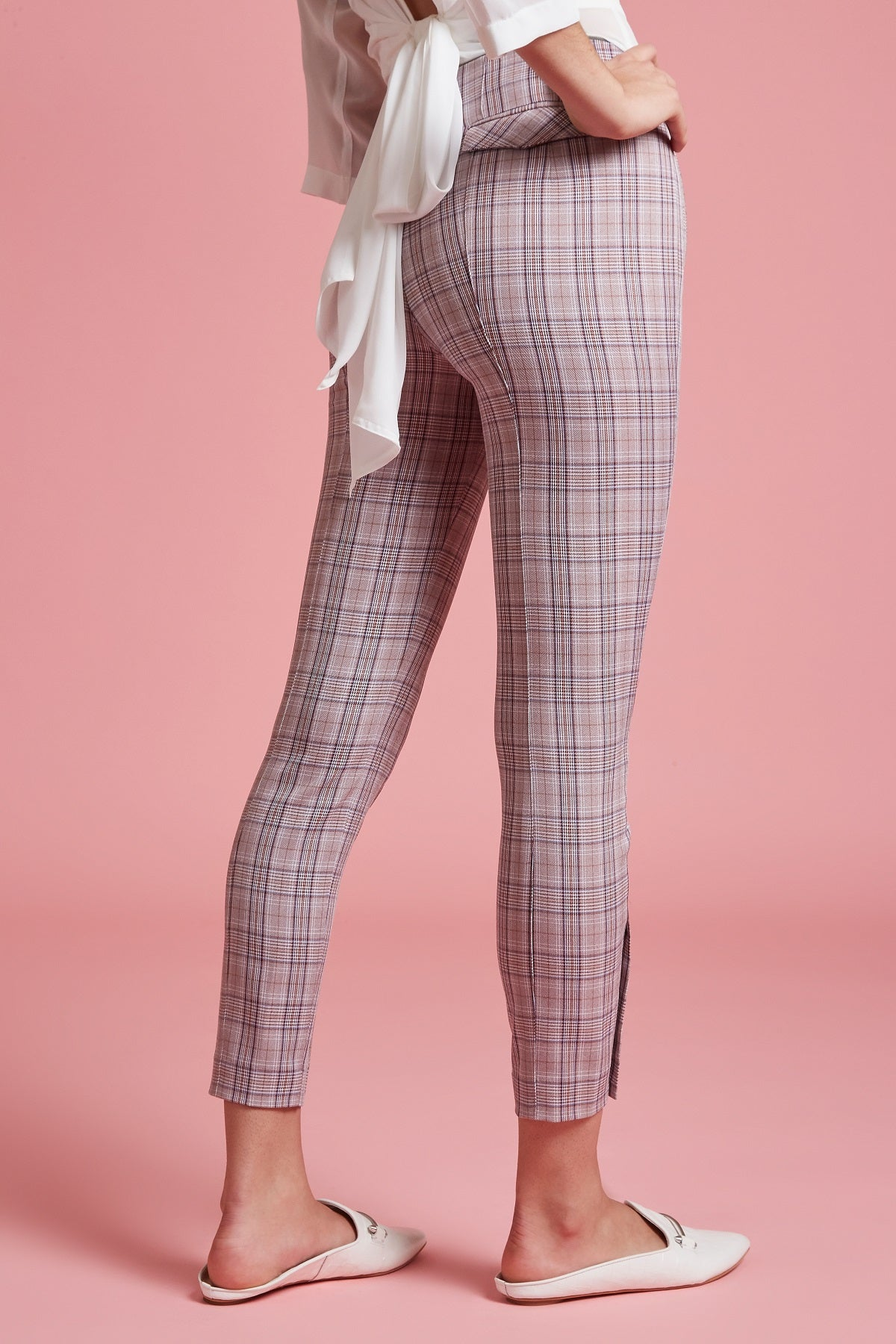 Glen Plaid Tailored Stretch Pant - Final Sale