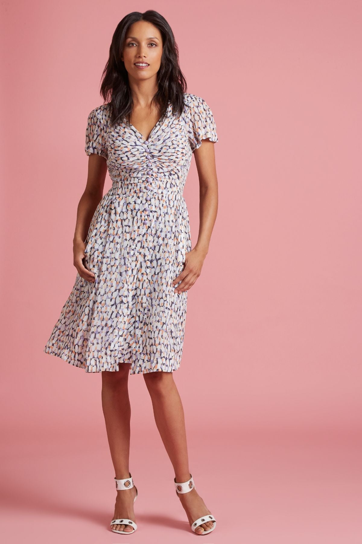 Tropical Reef 40's A-Line Dress (4185496879179)