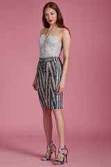 Aurora Sequin Pencil Skirt - Final Sale