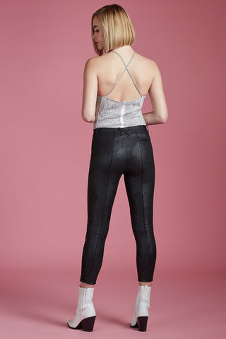 Vegan Leather Tailored Stretch Pant