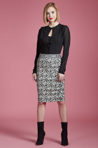 Wildflower Pencil Skirt