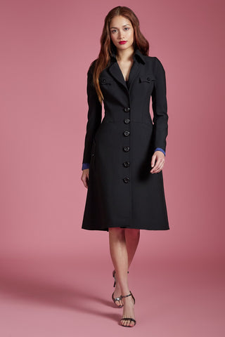 Single Breasted Bow Back Trench
