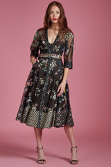Sequin Lace Forest Blossom Dress - Final Sale