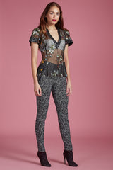 Forest Blossom Sequin Top