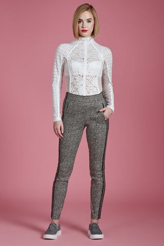 Flecked Gold Tailored Trouser