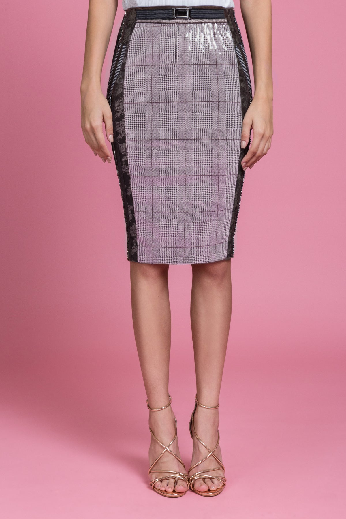 Glen Grey Pencil Skirt