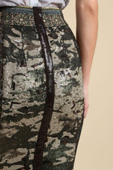 Sequin Camo Pencil Skirt (3521401847883)