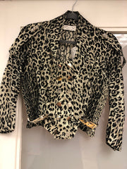 Leopard Crop Jacket - Sample Sale