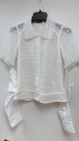 Eyelet Tailored Shirt - Sample Sale
